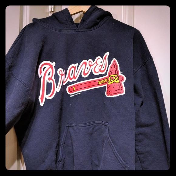 pretty nice 11e3b 4a03c Atlanta Braves Mens Hoodie